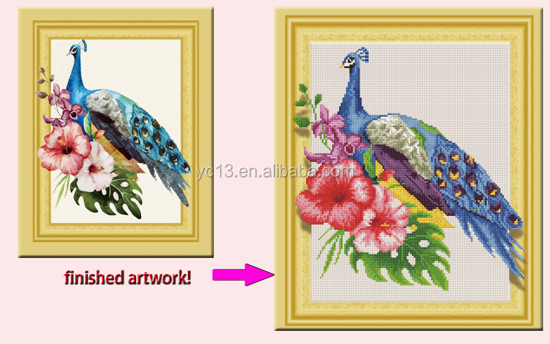 DIY Diamond Painting,Diamond Embroidery,Animal,blue Peacock,Full,Rhinestone,5D,Cross Stitch,Diamond Mosaic,Decor