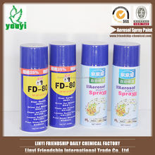 China supplier Attentive Service Aerosol Spray Paint Msds