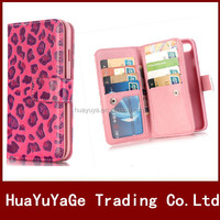 Multi-function Leopard Series Wallet ID card Holder Leather case cover for Apple iphone 7