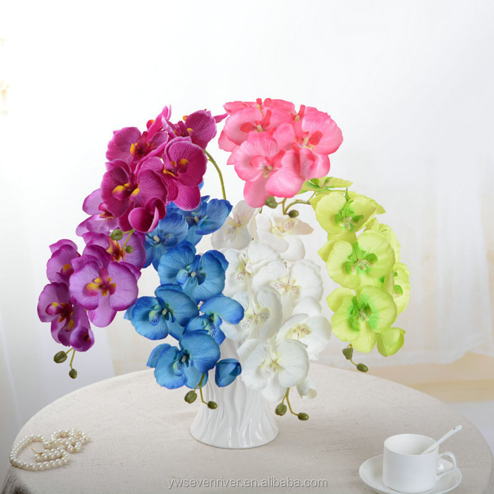 factory wholeasale cheap fake plastic artificial butterfly orchids red orchids