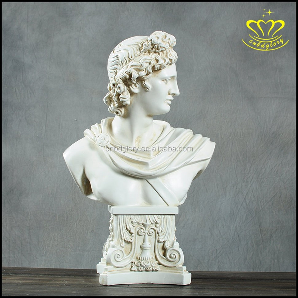 Custom European-style white marble sculpture Westerners busts