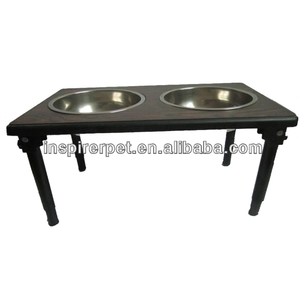 Wooden Stop Tray Elevated Dog Feeders
