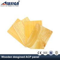 Alusign decorative wall panel(acp) wood plastic composite sheet acm board