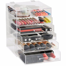 Beautify Large 6 Tier Clear Acrylic Makeup Organizer Cosmetic Boxes