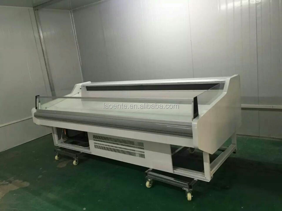 service counter chiller showcase for meat/fish/deli food european refrigerator manufacturers
