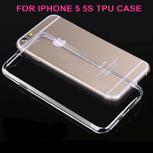 For iphone 5 Mobile accessories, for iphone 5 case; 0.3mm Ulta Thin Clear Transparent TPU protective Cover