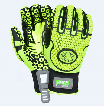 HTR impact protect safety mechanic work gloves