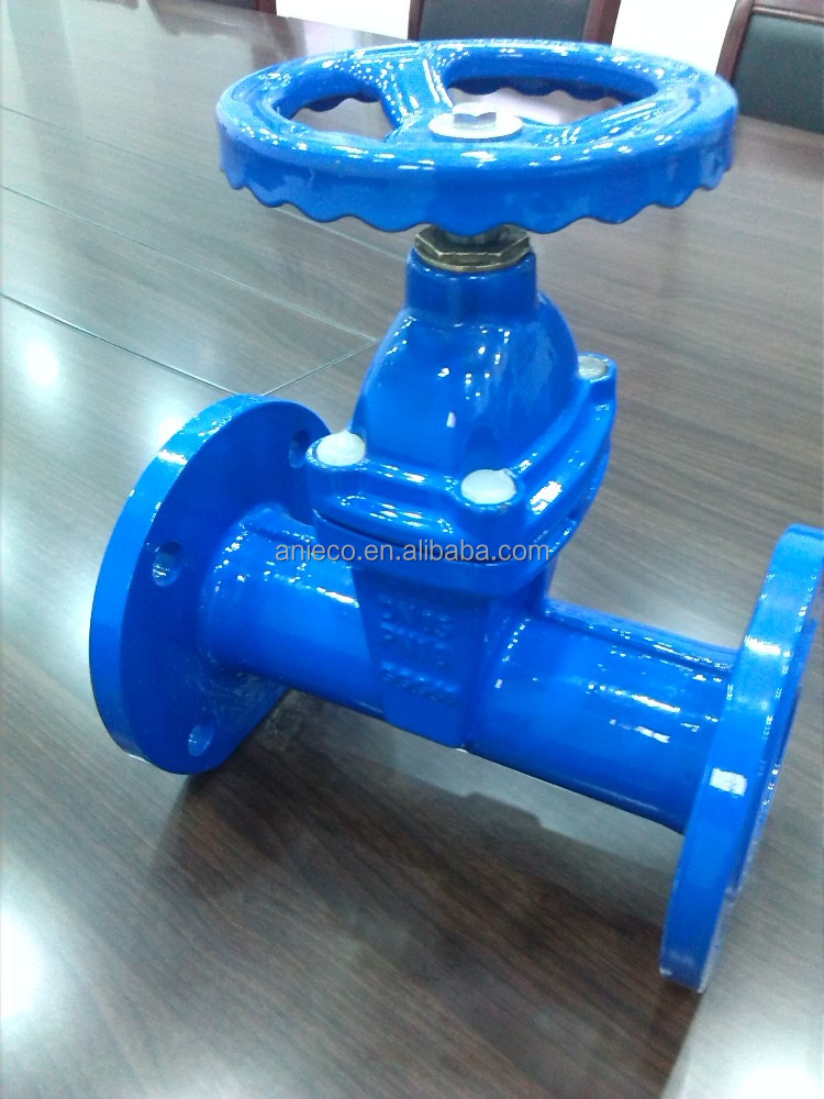 F5 ductile iron resilient seated gate valve EPDM seal pn16 non-rising spindle