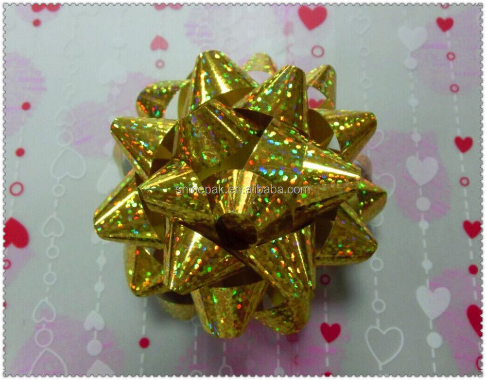 holographic christmas Star Bow