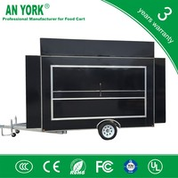 FV-55 best commercial street food vending cheap snack food cart with whe gasoline food cart
