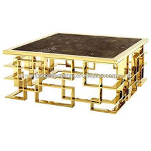 Tea table, coffee table composite, for hotel/villa/home, high-end stainless, 1050*750*420mm