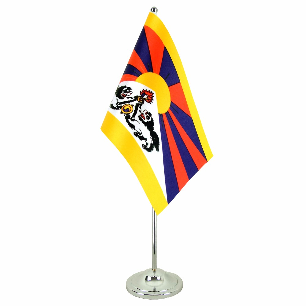 Custom indoor decorative office flag with desk flagpole