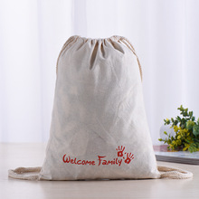 High Quality Thickness Canvas Dust Shoes Cloth Cotton Drawstring Bag