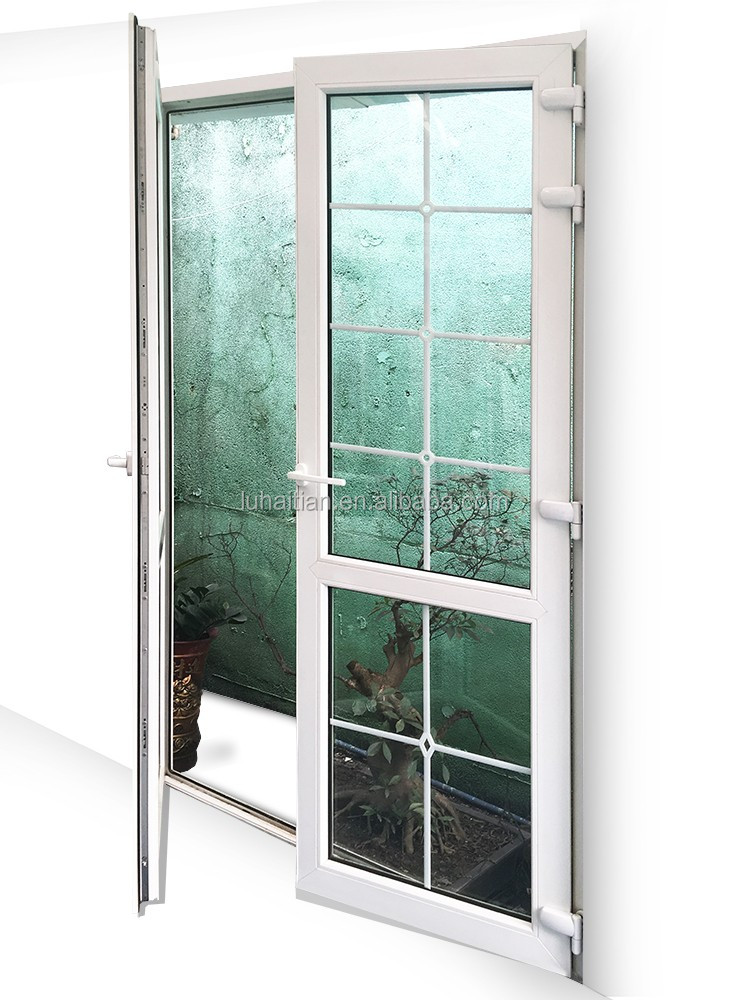 PVC tilt and turn door, teak wood main door design glass dor