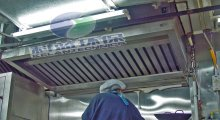 Commercial Kitchen Range Vent Hood with Electrostatic Grease Filters