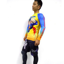 Custom printed sublimation mma rash guard with logo
