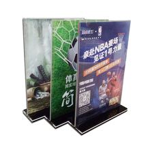 A4 menu display stand magnetic 8.5x11 T shape clear acrylic sign holder