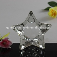 Wholesale clear star shape glass candle holders