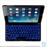 ACC4S Tablet Accessories Aluminum Bluetooth Keyboard Leather Case For Apple Ipad Air 5 P-IPD5CASE081