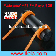 Waterproof MP3 Music Player For Swimming Black