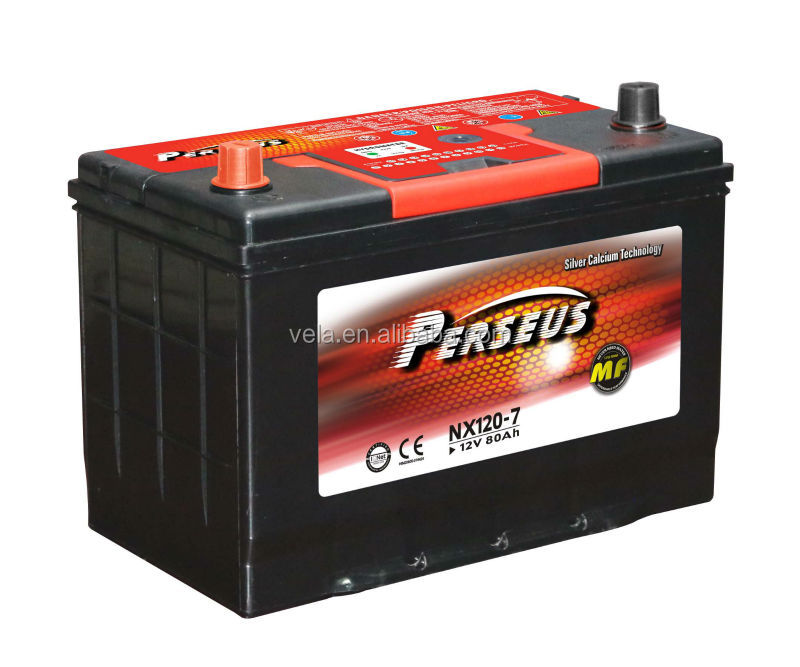 Perseuse nx120-7 80ah car batteries prices pure battery