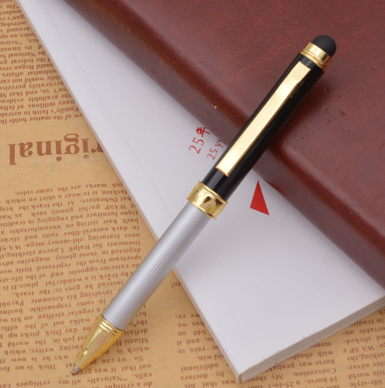 newest promotional high quality mini metal stretch pen with free logo