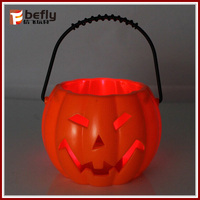 Trick or treat! kids toy led pumpkin light up lighted halloween bucket