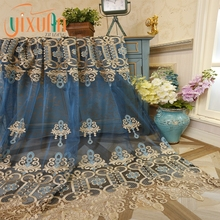 Wholesale high quality cheap voile fabric design macrame curtain
