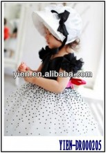 White And Black Princess Dress Ball Gowns For Children