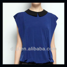 new models of blouse fabric for lady casual top