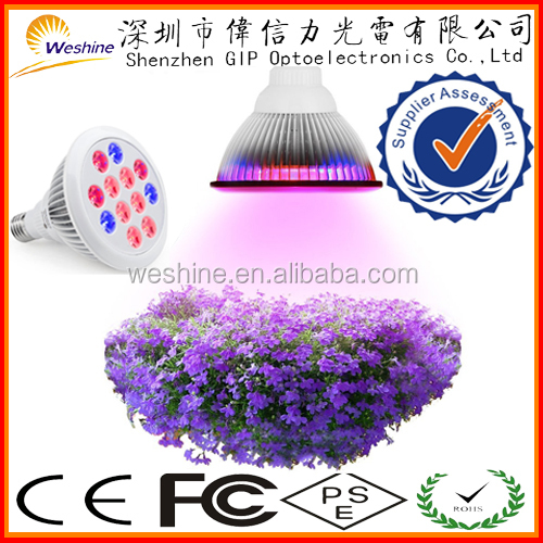 UL FCC ROHS CE 12W E26 rapid growth period stop plant growing pause led grow light bulb lamp for stem firm root deep use