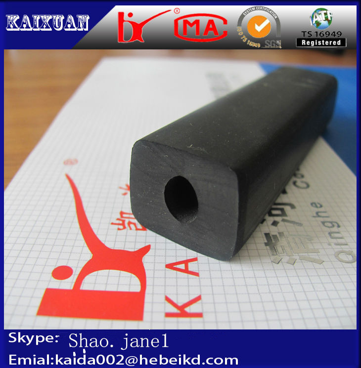 Square solid black epdm rubber extrusion profile sealing
