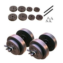 Adjustable Cheap Plastic Gym Lifting Cement Weight Plates Dumbbell Set