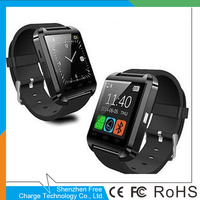 Professional Red Sport U8 Smart Bluetooth Wrist Watch For SmartPhone for SAMSUNG&IOS