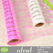 Nice Heart Clear Cellophane Gift Wrap Hamper Bouquet Florist 1m to 100m Roll