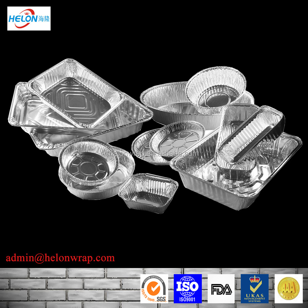 aluminium foil bowl in set, aluminum foil food box with lid, takeaway food packing