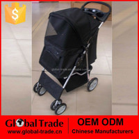 Foldable pet stroller. Pet Travel Stroller Pushchair Pram Jogger Buggy Swivel Wheels. H0116