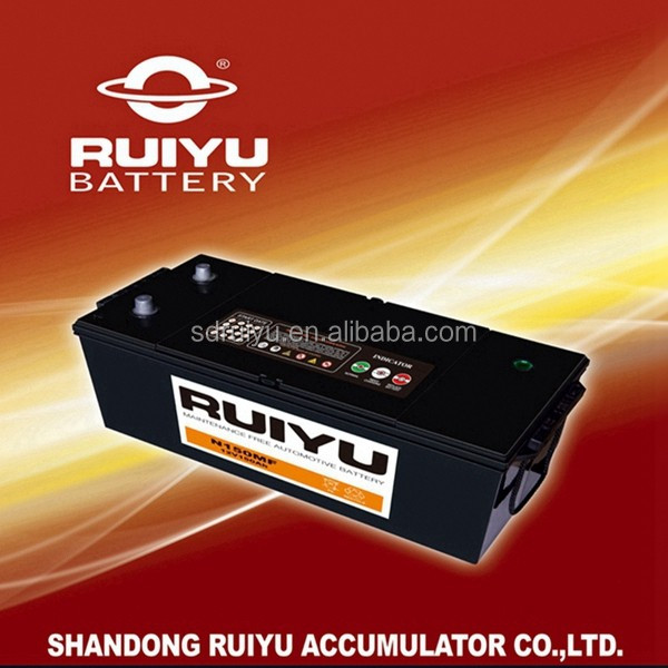 12V 150AH maintenance free car battery truck /auto / car battery