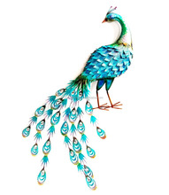 home decor Peacock Metal Wall Art