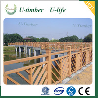 Top quality long lifetime WPC wooden composite fence slats