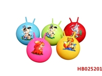 45Cm 400G Inflatable Ball, Eco-Friendly Pvc Multifunctional Inflatable Priting Handle Jumping Ball For Kids