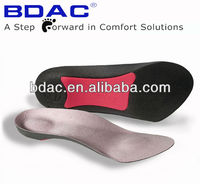 3/4 soft foam arch support foot orthotics rigid insoles