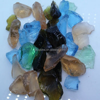 Terrazzo Colored Glass Chips Amber Color 10mm-800mm