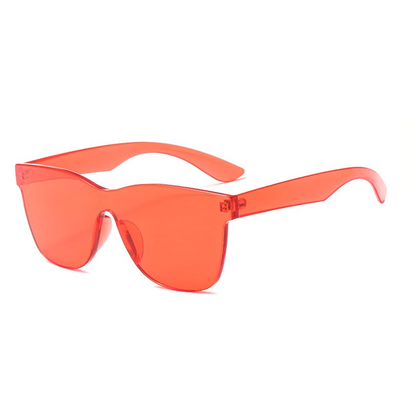 2019 Oversized Rimless Square Glasses Colorful Candy Sunglasses For Women