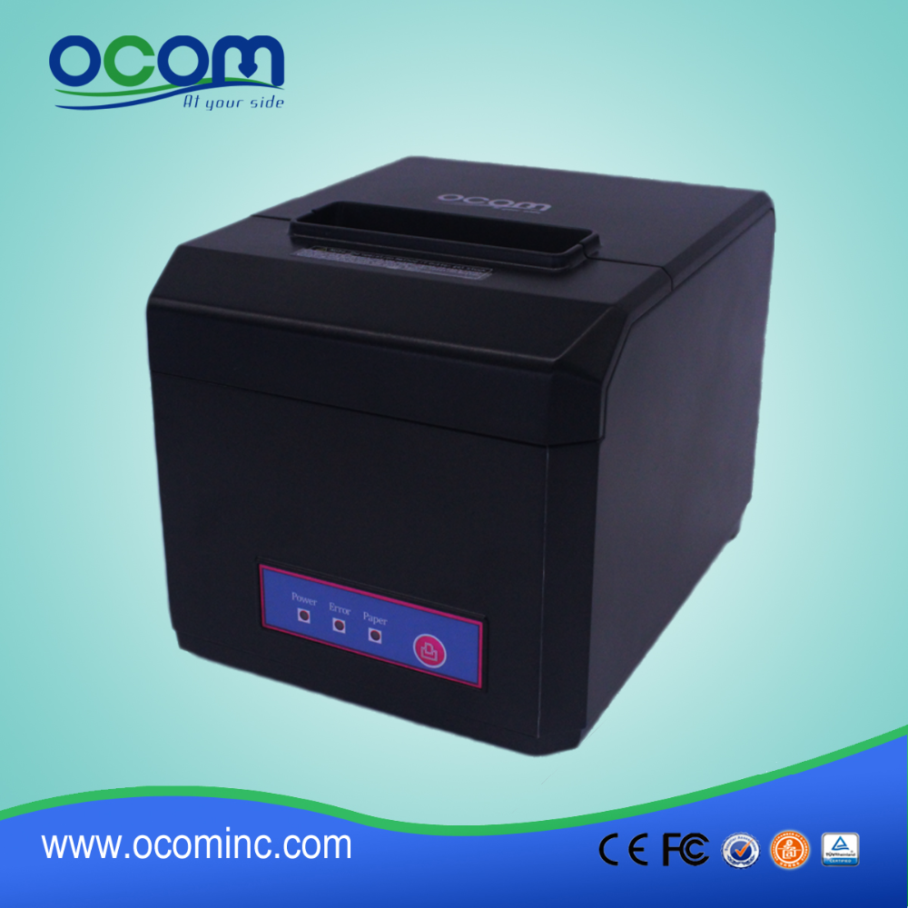OCPP-80F: 3 inch bill POS receipt thermal printer price 58mm and 80mm width paper avaliable