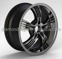 Deep dish black alloy wheels for after market 13 inch 16 inch (ZW-P373)