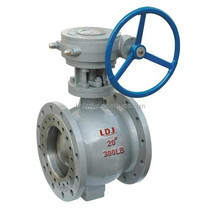 Double flanged manul metal seal eccentric half ball valve 24 inch