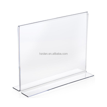 T shape Table Display Stand Transparent Acrylic Menu Holder