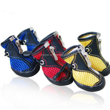 Factory supply hot-sale pet air mesh summer boots large dog pet shoes