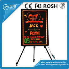 New promotional gifts electronic coffee menu advertisement board glowing blackboard Fluorescent LED Board with Marker Pen